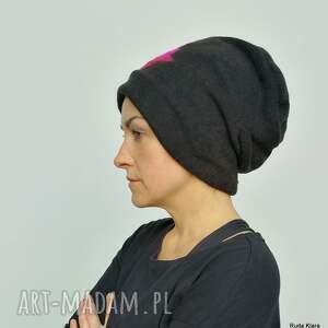 eleganckie czapki czapka wełniana damska etno boho