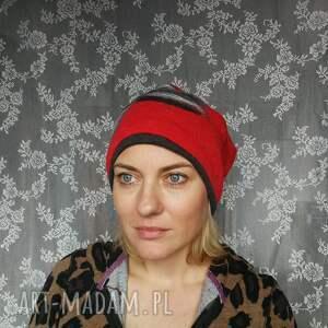 urokliwe czapki wełna czapka wełniana filcowana czerwona