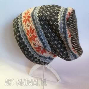 czapki wełna czapka wełniana norweska damska