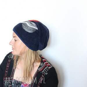 wyjątkowe czapki wełna czapka wełniana filcem ozdabiana