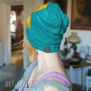 gustowne czapki wełna czapka wełniana damska turkus
