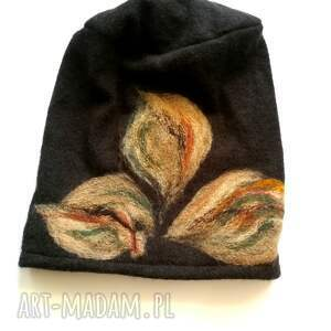 hand-made czapki wełna czapka wełniana damska etno boho