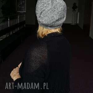 ręcznie zrobione czapki czapka wełniana filcowana szara