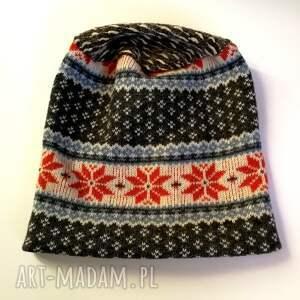 czapki norweska czapka wełniana damska
