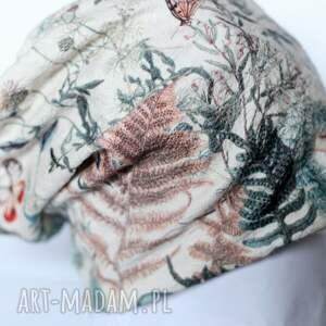 czapki dzianina czapka z francuskiego materiału