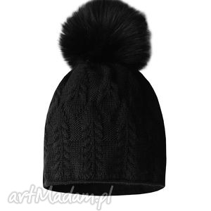 futro czapki czapka z futrzanym pomponem