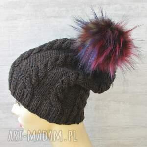 niekonwencjonalne czapki czapka zimowa z pomponem unisex
