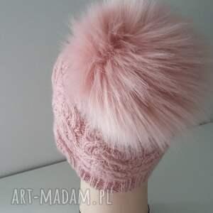 czapki czapka zimowa z dużym pomponem