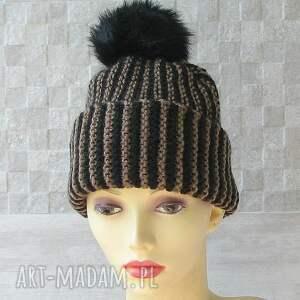 oryginalne czapki czapka zimowa z pomponem