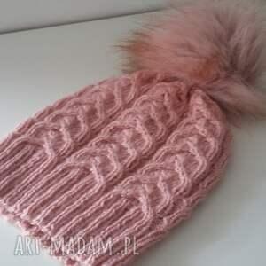 wyjątkowe czapki czapka zimowa ella z dużym