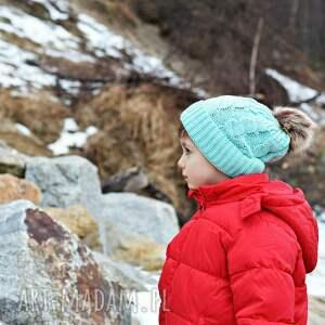 gustowne czapki ciepła zimowa czapka z pomponem