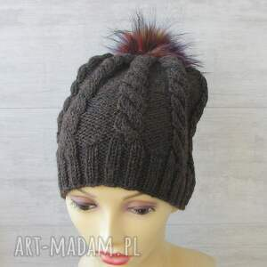 męska czapka czapki lekka zimowa, wykonana ręcznie