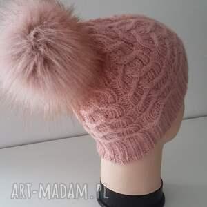 wyjątkowe czapki sploty czapka zimowa ella z dużym