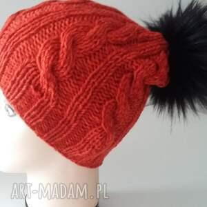 ciekawe czapki pompon czapka zimowa z dużym pomponem