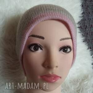 szare czapki czapka zimowa
