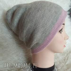 modne czapki druty czapka zimowa