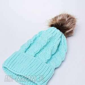 czapka na zimę czapki zimowa z pomponem