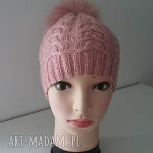 czapki czapa czapka zimowa z dużym pomponem