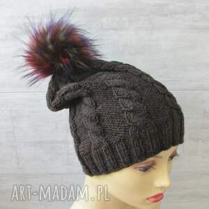 czapki męska czapka zimowa z pomponem unisex