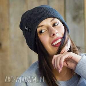 czapki zimowa czapka unisex szara