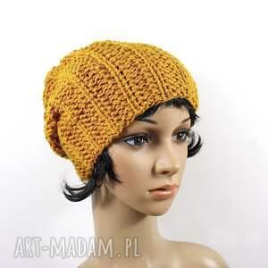 gustowne czapki czapka złoto-pomarańczowa