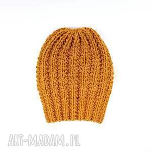 czapki unisex czapka złoto-pomarańczowa