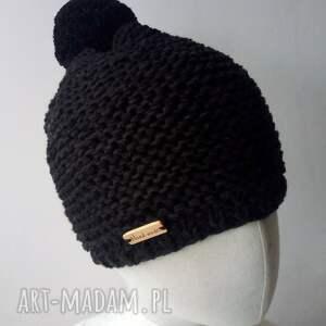 czapki czapka czarna merino