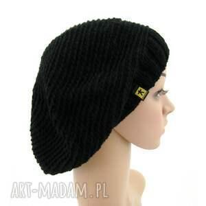 czapki czapka czarny beret