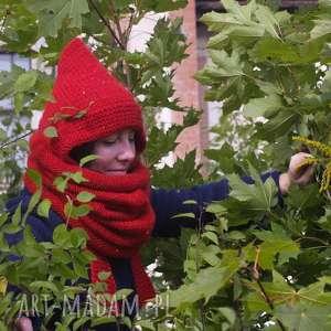 cekiny czapki czerwony kapturek * czapa elf