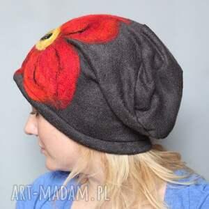 efektowne czapki czesanką filcowane wełniane