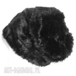 oryginalne czapki czapka damska futrzana czarna