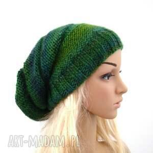 zielone czapki czapka długa w zieleniach