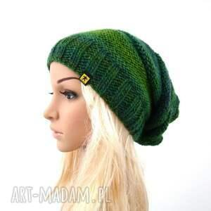 eleganckie czapki czapka długa w zieleniach