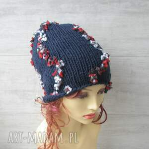 kolorowa czapka czapki duża ręcznie