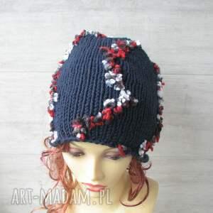 czapki kolorowa czapka duża ręcznie
