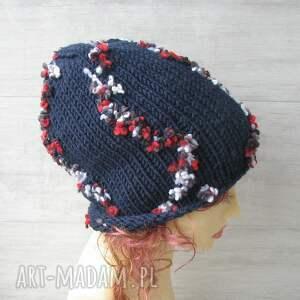 ręcznie wykonane czapki kolorowa czapka duża
