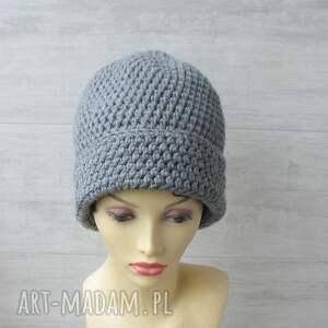 czapka-zimowa czapki duże szydełkowe