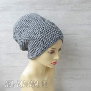 handmade czapki czapka-szydełkowa duże szydełkowe