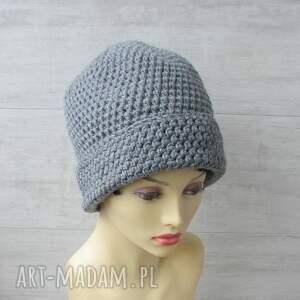czapki czapka-zimowa duże szydełkowe