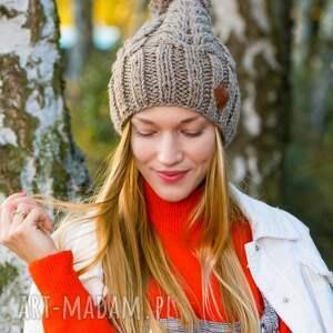 ciekawe czapki czapka na zimę produkt robiony ręcznie na drutach, w poznaniu