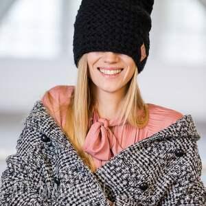 handmade czapki czapka explorer elegancki czarny