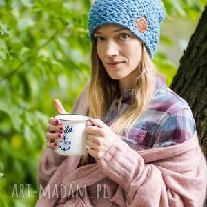 handmade czapki czapka explorer galaxy blue