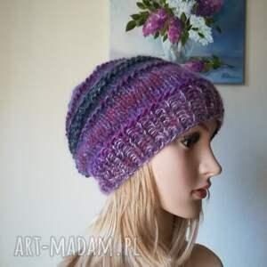 niebieskie czapki czapka fiolety w jedwabiu