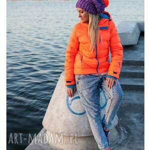 pomarańczowe czapki zima follow me! fiubździu