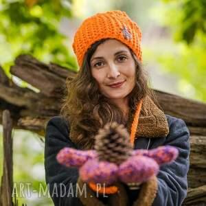 urokliwe czapki pomarańczowa follow me mechaniczna