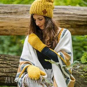 handmade czapki czapka follow me pikantna musztarda