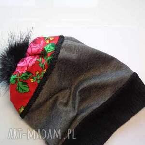 góralskie czapki szare czapka folk design aneta larysa