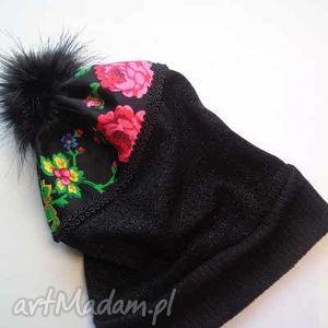 góralskie czapki różowe czapka folk design aneta larysa