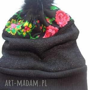 ręcznie wykonane czapki czapka folk design aneta larysa