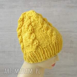 eleganckie czapki czapka gruba alpaka